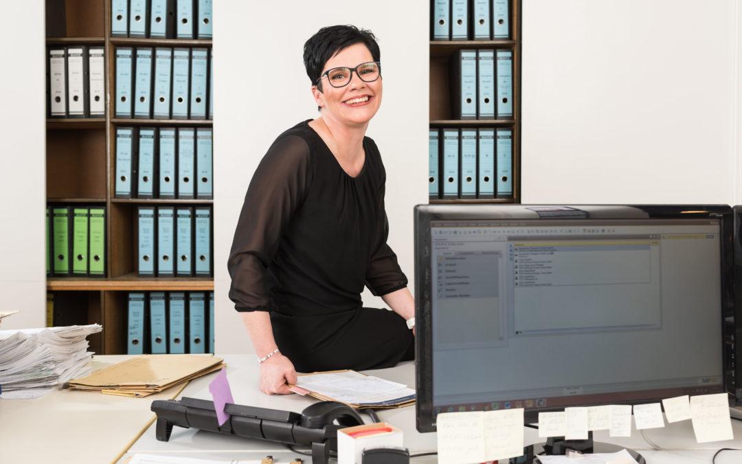 Sandra Klein, Sachbearbeitung Reparatur und Service, im Unternehmen seit April 2018